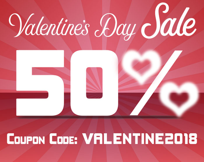 A Valentine Gift – 50% off all of our online history courses!